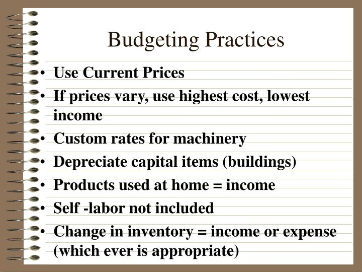 Budgeting Practices