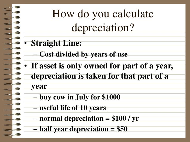 How do you calculate depreciation?