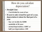 how do you calculate depreciation