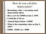 how do you calculate depreciation1