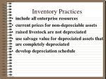 inventory practices