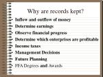 why are records kept