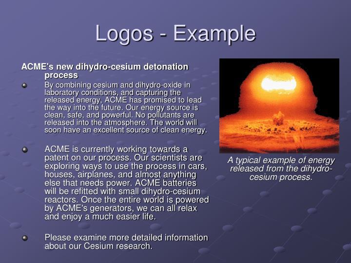 Logos - Example