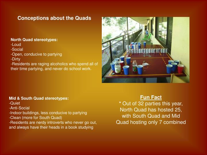 Conceptions about the Quads