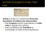 history sources of military law