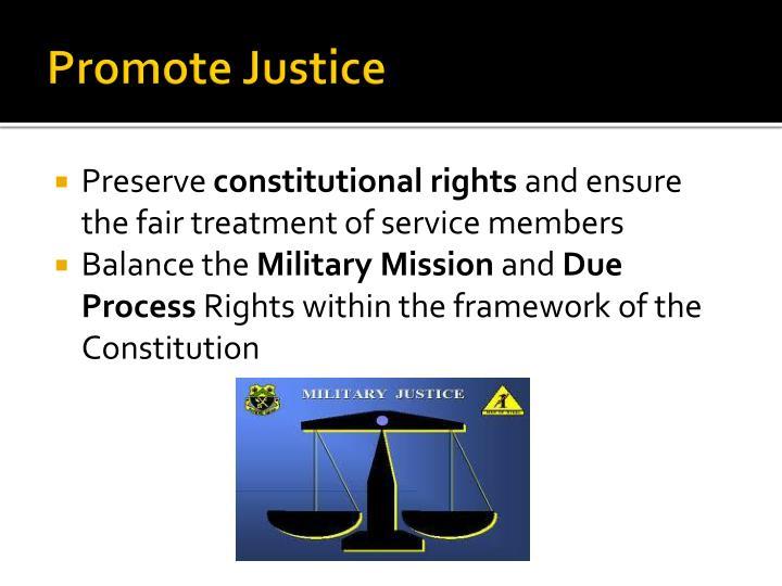 Promote Justice