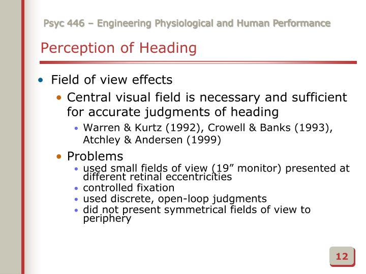 Perception of Heading