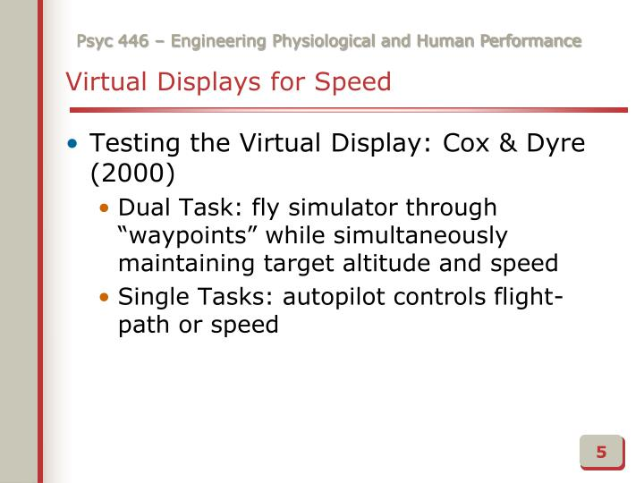 Virtual Displays for Speed