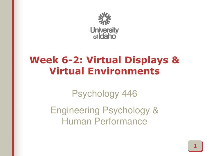 week 6 2 virtual displays virtual environments