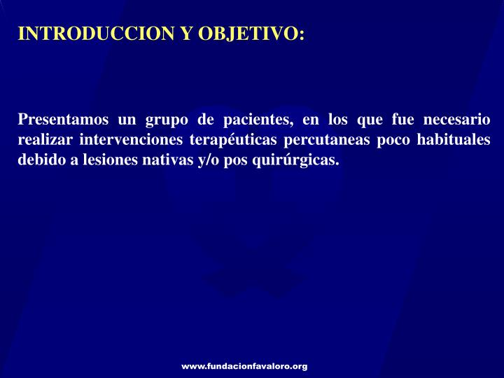 INTRODUCCION Y OBJETIVO: