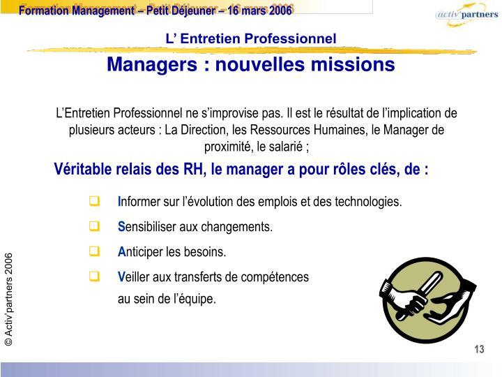 Managers : nouvelles missions