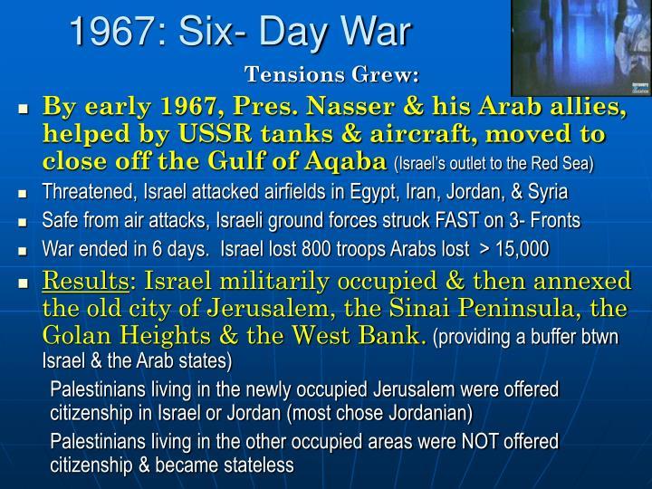 1967: Six- Day War