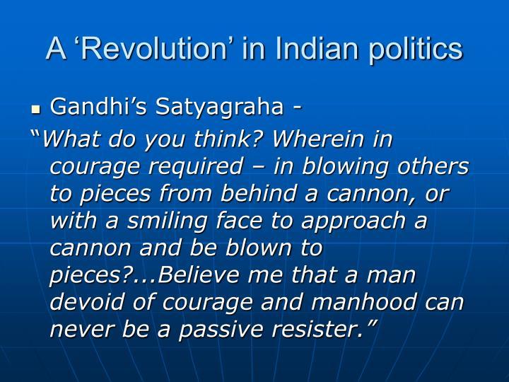 A 'Revolution' in Indian politics