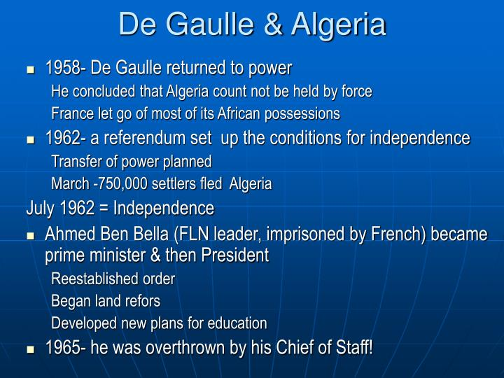De Gaulle & Algeria