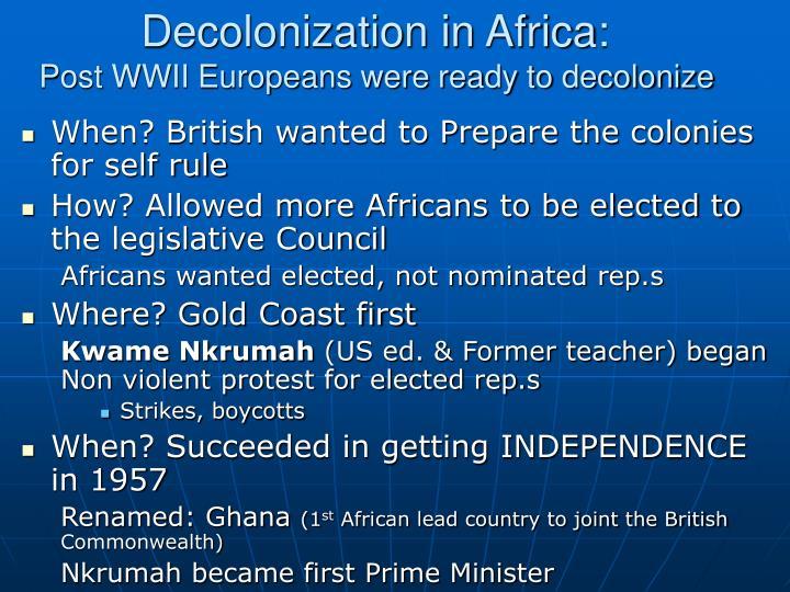 Decolonization in Africa: