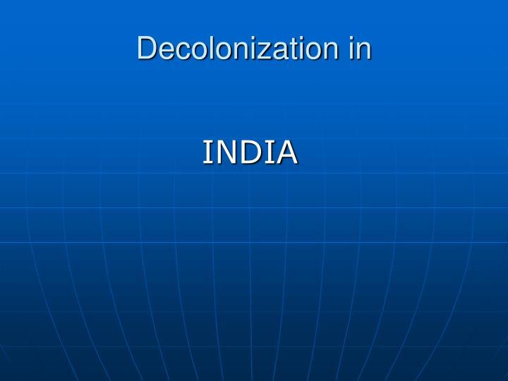Decolonization in