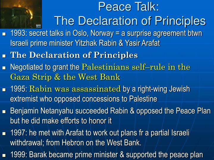 Peace Talk: