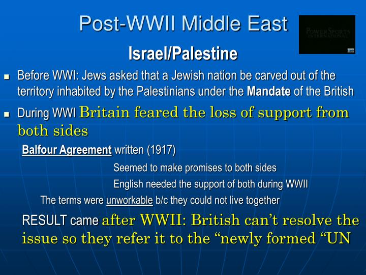 Post-WWII Middle East