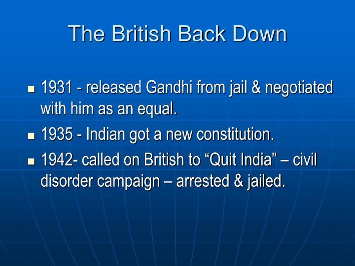 The British Back Down