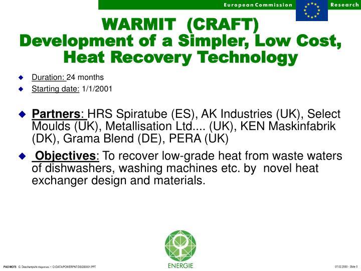WARMIT  (CRAFT)