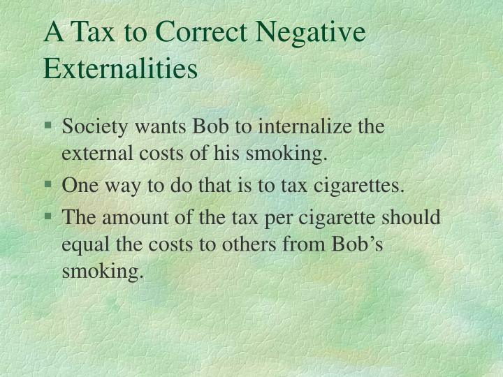 A Tax to Correct Negative Externalities