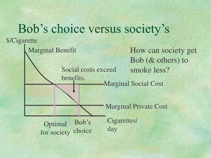 Bob's choice versus society's