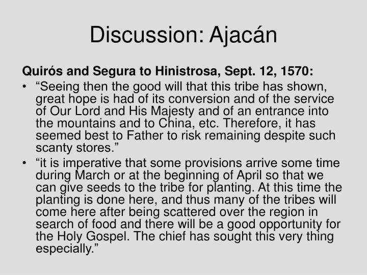 Discussion: Ajac