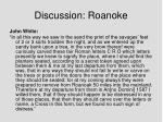 discussion roanoke