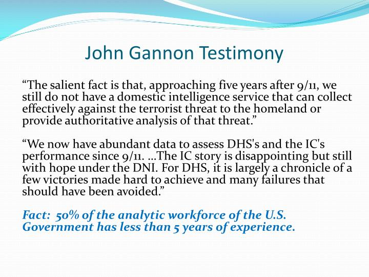 John Gannon Testimony