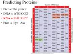 predicting proteins