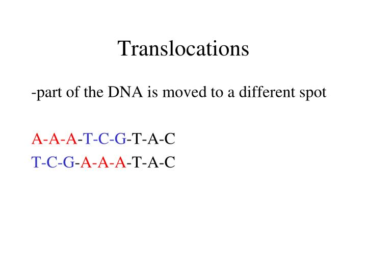 Translocations