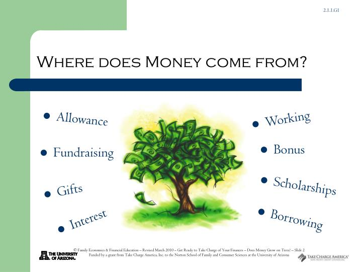 Where does money come from
