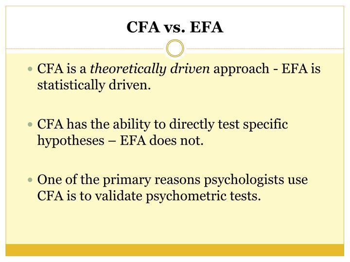 CFA is a