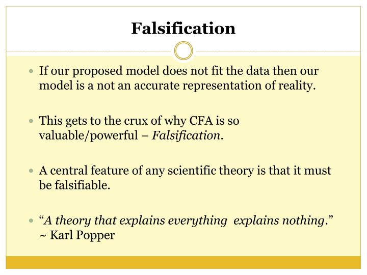 If our proposed model does not fit the data then our model is a not an accurate representation of reality.