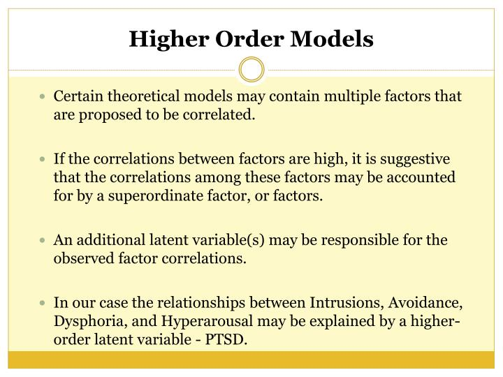 Certain theoretical models may contain multiple factors that are proposed to be correlated.