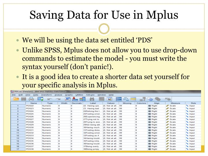 We will be using the data set entitled 'PDS'