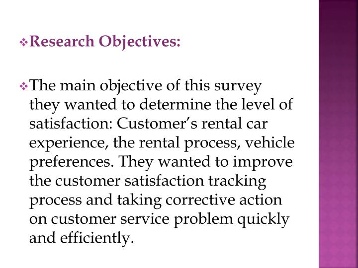 Research Objectives: