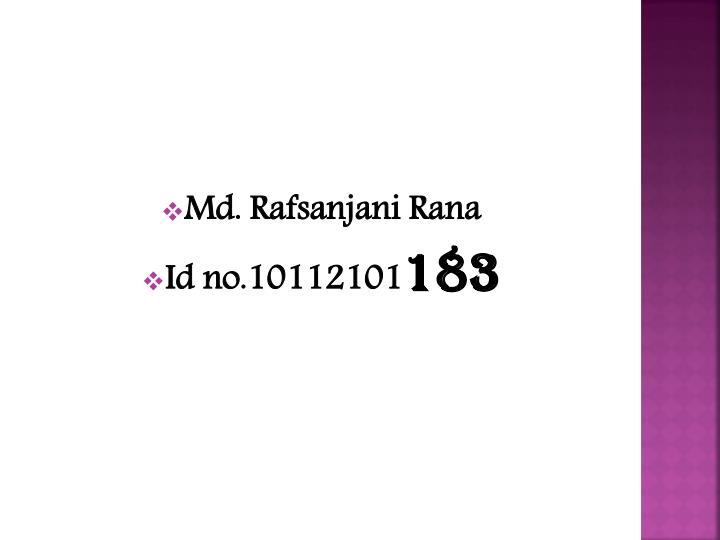 Md. Rafsanjani Rana