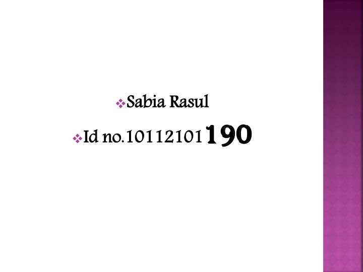 Sabia Rasul