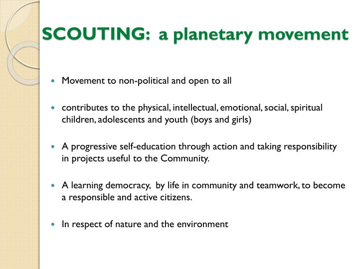 SCOUTING:  a