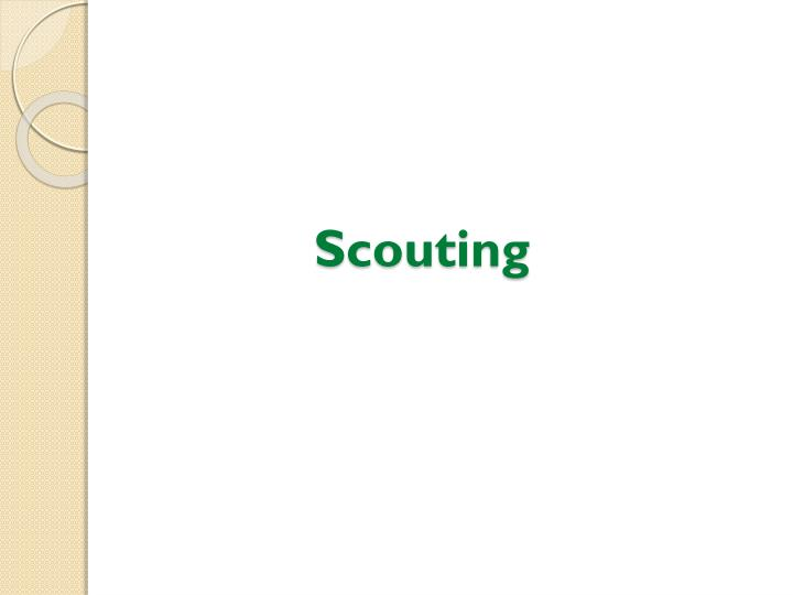 Scouting