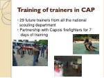 training of trainers in cap