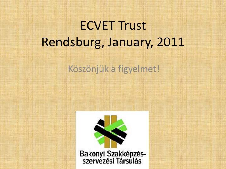 ECVET Trust