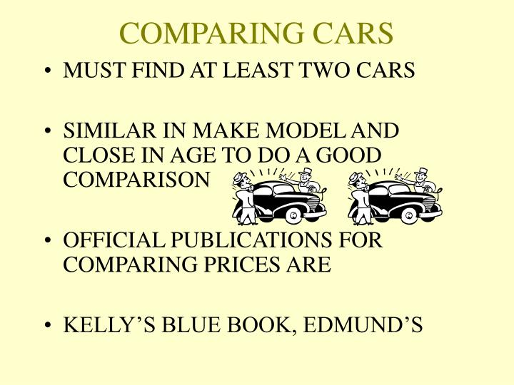 Comparing cars