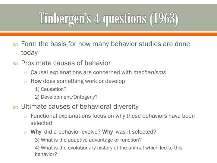 Tinbergen's 4 questions (1963)
