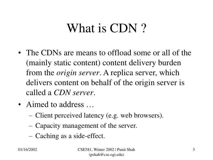 What is CDN ?
