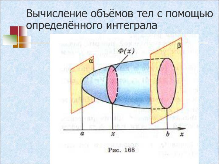 Вычисление объёмов тел с помощью определённого интеграла