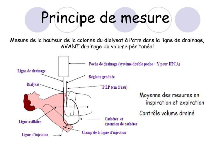 Principe de mesure