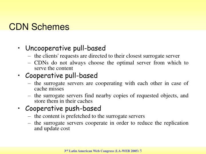 CDN Schemes