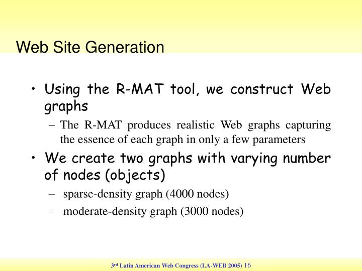 Web Site Generation